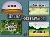 Animals of Africa Windows The habitat selection screen