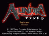 Alundra PlayStation Title screen