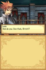 "Luminous Arc Nintendo DS Leon, one of the Witch hunters belonging to the ""Garden Children"", revels in his success."