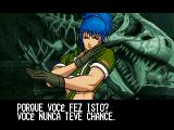 The King of Fighters: Evolution Windows Gloating screen in Portuguese (the game supports English and other languages).