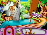 Putt-Putt Saves the Zoo Windows Found the baby giraffe, blocked by a rock...why doesn't he just go through the cave behind him?