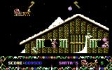 Santa's Xmas Caper Commodore 64 In typical shoot-'em-up style, everything is thrown at Santa.