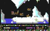 Santa's Xmas Caper Commodore 64 Attack of the mutated chickens.