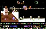 Santa's Xmas Caper Commodore 64 The graphics are really nice for a budget game.