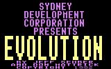 Evolution Commodore 64 Title screen