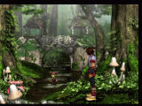 Jade Cocoon: Story of the Tamamayu PlayStation In the forest. The monsters are all visible.