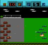 Famicom Wars NES Tanks open fire on infantry defenders.