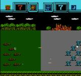 Famicom Wars NES A battle between ground forces, regular infantry and mechanized infantry