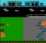 Famicom Wars NES Tanks open up on one another with devastating firepower.