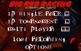 Big Red Racing DOS Main Menu