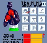 "Evander Holyfield's ""Real Deal"" Boxing Game Gear Between fights, you can choose three (if you win, two if you loose) types of training to improve your fighter abilities."