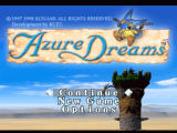 Azure Dreams PlayStation Title screen