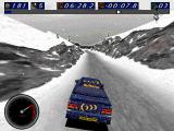Network Q RAC Rally Championship DOS Snow landscape