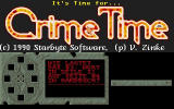 Crime Time DOS Title screen (with copy protection)