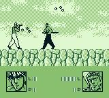 Sakigake Otokojuku: Meiōtō Kessen Game Boy Be careful as he has throwing weapons.