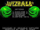 Wizball ZX Spectrum Main menu