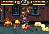 Streets of Rage Genesis Player 2's special attack, note that in a two-player game the number of bosses is often doubled.