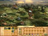 Heroes of Might and Magic IV: Winds of War Windows The town's main screen.