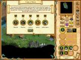Heroes of Might and Magic IV: Winds of War Windows By visiting the Temple of Nature, the morale of my troops is now increased.