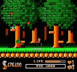 The Addams Family NES The woods