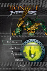 BIONICLE Heroes Nintendo DS Title screen