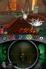 Bionicle Heroes Nintendo DS Battle in the lava world