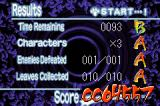 Naruto: Ninja Council 2 Game Boy Advance Your  stats depending on how well you did on the stage