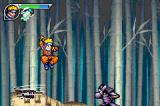 Naruto: Ninja Council 2 Game Boy Advance Using a teleport move to evade an enemy's attack