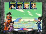 Dragon Ball Z: Idainaru Dragon Ball Densetsu PlayStation Selecting 3 of the 4 possible fighters for the battle to follow