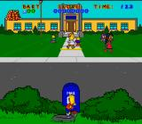 Virtual Bart SNES It's school picture day and what better time to throw tomatoes at students