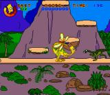 Virtual Bart SNES Dangerous Dinosaurs, Dino Bart must avoid other creatures