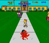 Virtual Bart SNES Splat! That kid's going to have dirty clothes