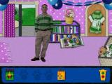 "Blue's Clues: Blue's Birthday Adventure Windows Blue has ""skidoo-ed"" into the pages of an open book"