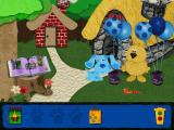 Blue's Clues: Blue's Birthday Adventure Windows The bear has a quest for Blue - finding a blue balloon. The noisemaker on the ground gets collected...