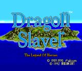 Dragon Slayer: The Legend of Heroes TurboGrafx CD Introduction