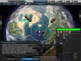 Empire Earth III Windows The world view with about half of all the information available.