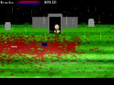 Zombie Smashers X Windows Entering a tomb.