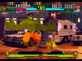 Marvel Super Heroes vs. Street Fighter PlayStation Hulk attempts to hit-stop Dhalsim's punch-based offensive using... another punch-based offensive!!!