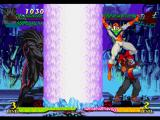 Marvel Super Heroes vs. Street Fighter PlayStation And Blackheart starts to perform his Inferno attack (Ice version) against a defensive Cyber-Akuma...