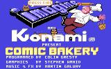 Comic Bakery Commodore 64 Title screen.
