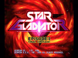 Star Gladiator: Episode:I - Final Crusade PlayStation Title Screen