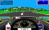 Grand Prix Circuit Amiga Driving a qualification lap for the Monaco GP.