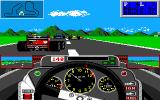 Grand Prix Circuit Amiga Trying to overtake the Ferrari.