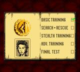 Perfect Dark Game Boy Color Basic training is complete