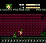 Wurm: Journey to the Center of the Earth NES Captain Moby attacks an enemy with her high kick