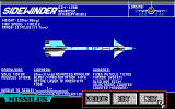 F-16 Combat Pilot DOS In-game info screens give details on the different rockets...