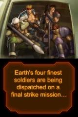 Contra 4 Nintendo DS Intro shot 4. With a team so diverse, the only member missing is a guy in a wheelchair.