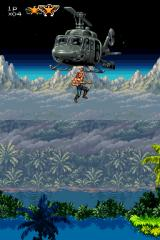 Contra 4 Nintendo DS The hero is delivered via helicopter.