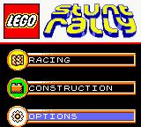 LEGO Stunt Rally Game Boy Color Options screen