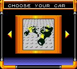 LEGO Stunt Rally Game Boy Color There are a few different types of car to select.